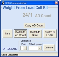 25kit Load Cell Kit PC Program AD Count display